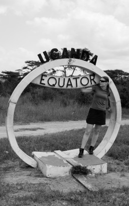 Piritta on the Uganda Equator