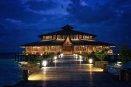 Main lodge. Lankayan Island. Borneo, Malaysia.