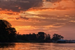 Sunset in the Colombian Amazon.