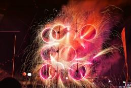 Fireworks in a local village fiesta in Il-Kalkara, Malta.